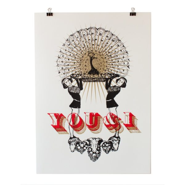 You&I – Siebdruckposter – Rot